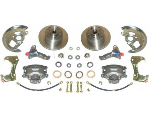 Camaro Brake Conversion Kit, Front, Disc, Upgraded Chrome, 1967-1969