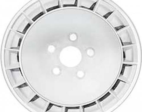 "Firebird Wheel, White, 15"" x 8"", 1980"