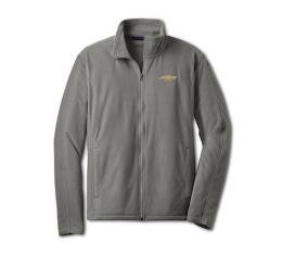 Chevy Jacket, Men's, Full Zip Lightweight Microfleece , Grey