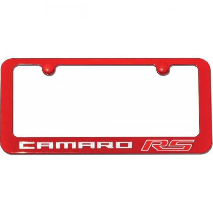 Camaro RS Painted Rear License Plate Frame