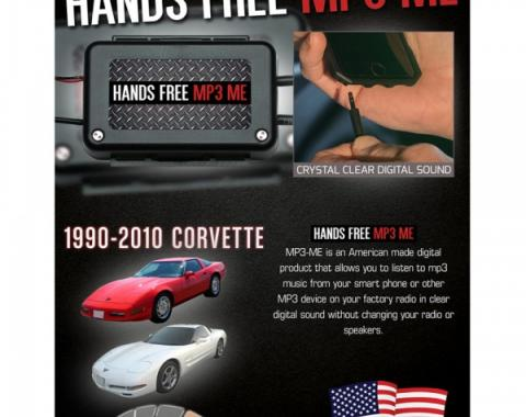 Max Performance MP3 Hidden Hands Free Auxiliary Adapter  RPZ189CV Corvette 1990-2010