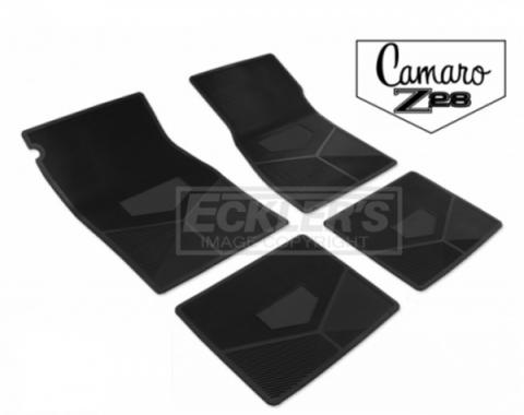 Legendary Auto Interiors, Rubber Floor Mats, With Camaro Script And Z28 Emblem| 33-11283 Camaro 1970-1974
