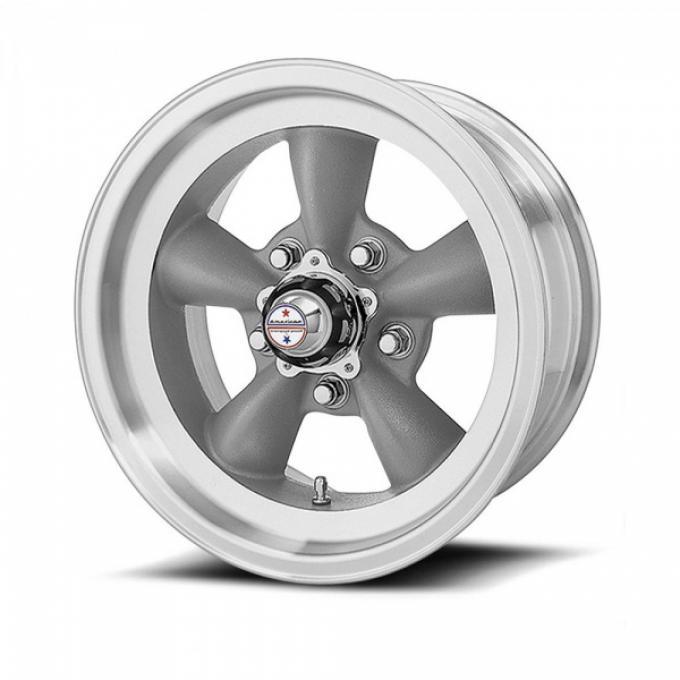 American Racing Torq-Thrust D Gray Wheel W/ Machine Lip, 15X6