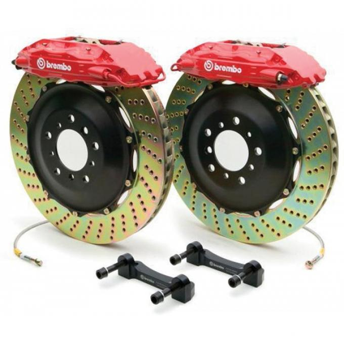 Firebird Brake Kit, Brembo GT, Front, Cross-Drilled, 1998-2002