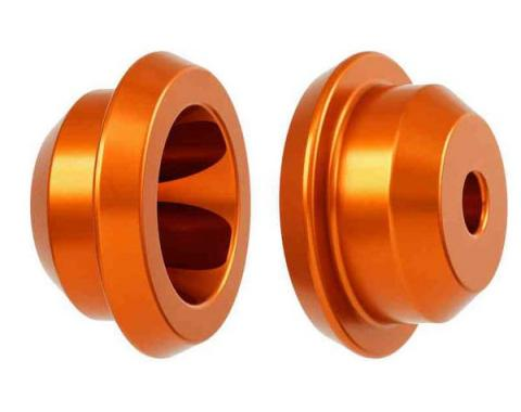 Camaro Solid Rear Subframe Mount Set, Orange, 2010-2015