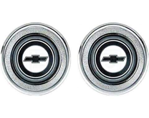Camaro Interior Door Panel Emblems, Black Bow Tie, 1974-1981
