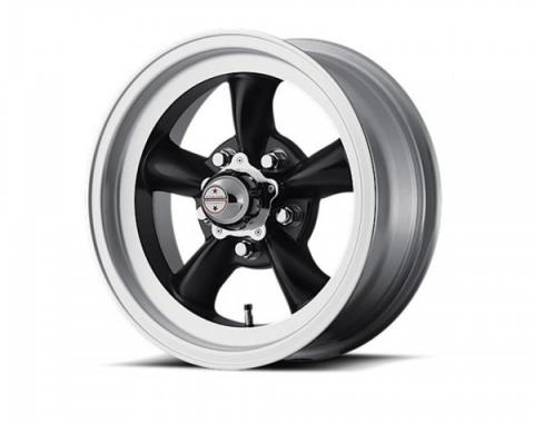 American Racing Torq-Thrust D Black W/ Machined Lip Wheel, 15X10