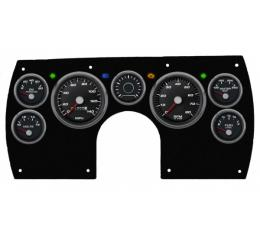 El Camino -CFR Blueline Gauge Package, Black And Blue Dial 1982-1985