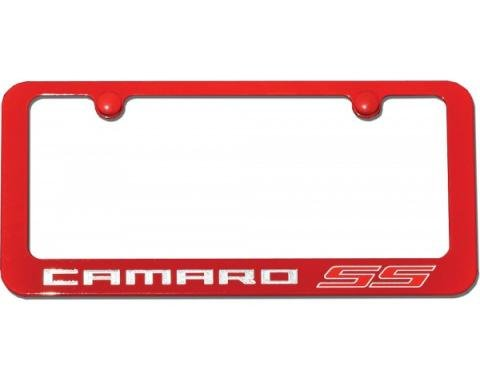 Camaro SS Painted Rear License Plate Frame