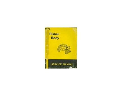Camaro Fisher Body Service Manual, 1975
