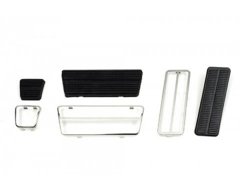 Camaro Brake & Gas Pedal Kit, For Cars With Drum Brakes & Automatic Transmission, 1970-1981