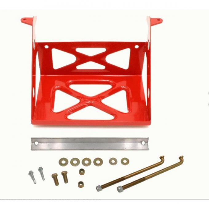 Camaro Battery Relocation Mount, Red, 1982-2002