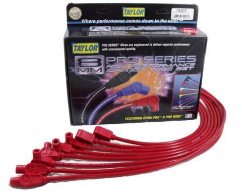 Camaro Taylor Plug Wires, Spiro-Pro Custom, Red, V8, 1983-1986