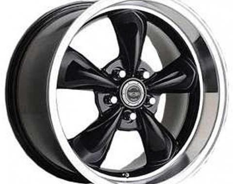 Firebird Torq-Thrust M Wheel, 17 x 8, Aluminum, Painted Black, American Racing, 1967-1969