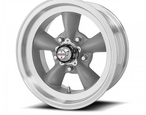 American Racing Torq-Thrust D Gray Wheel W/ Machine Lip, 15X6