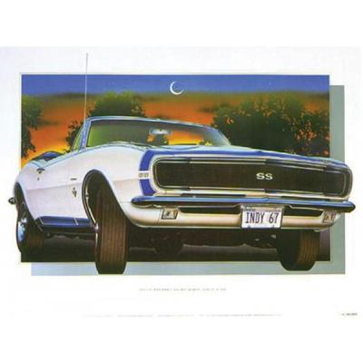 1967 Camaro SS Indy Pace Car Print By Hugo Prado
