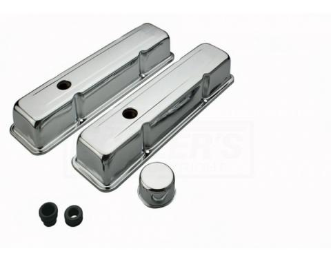 Camaro Chrome Valve Cover, Small Block, Kit, 1967-1986