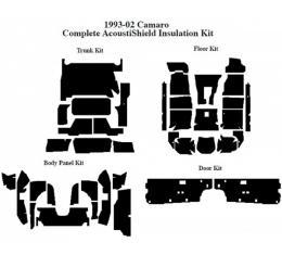 Camaro Insulation, QuietRide, AcoustiShield, Complete Kit, Convertible, 1994-2002