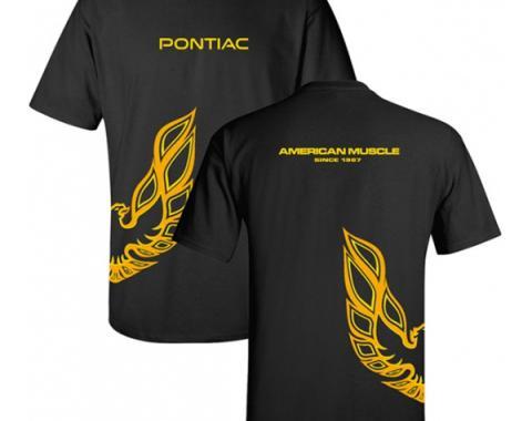 Pontiac American Muscle Since 1967  T-shirt, Black