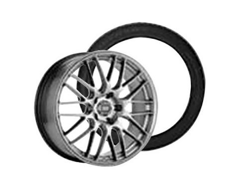 Camaro Enkie EKM3 Wheel Rim and Firehawk Wide Oval AS W-Speed Rated Wheel Rim Kit, 2010-2015