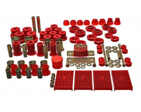 Hyperflex Polyurethane Bushing Master Kit, Multileaf, 67-69