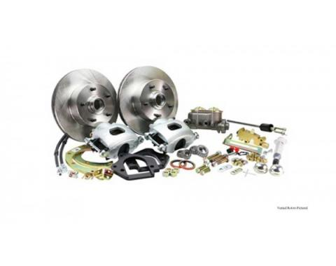 Front Disc Brake Conversion, Stock Spindles, Drilled And Slotted Rotors, Non-Power, 1967-1969