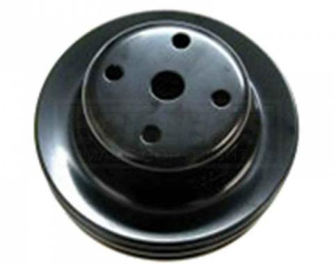 Firebird Water Pump Pulley, Double Groove For Cars With Air Conditioning, Pontiac V8, 1970