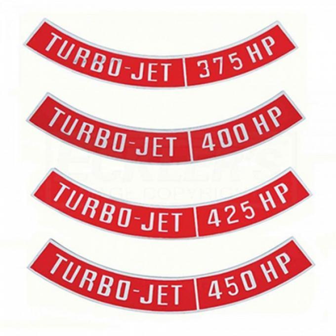 Camaro Air Cleaner Emblem, Turbo Jet, 1967-1984