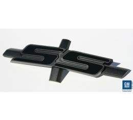 Camaro Grille Emblem, SS, Satin Black With Gloss Black, 2010-2013