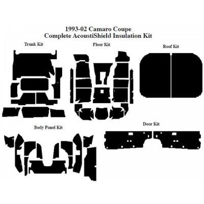 Camaro Insulation, QuietRide, AcoustiShield, Complete Kit, Coupe, 1993-2002