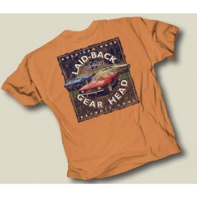 Laid Back Gear Head Chevy T-Shirt, Yam | XXL