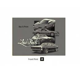 Laid Back 1st to 4th Gen Camaro T-Shirt, Grey