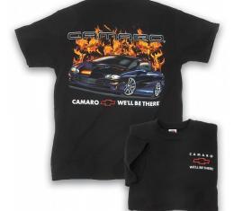 Camaro T-Shirt, Flame, Black, 1993-2002