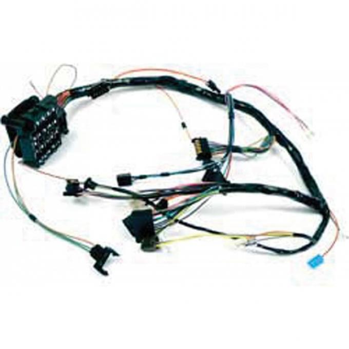 Firebird Dash Wiring Harness, With Warning Lights & Seat Belt Warning System, 1972-1973