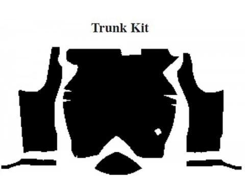 Camaro Insulation, QuietRide, AcoustiShield, Trunk Floor Kit, Coupe, 1975-1981