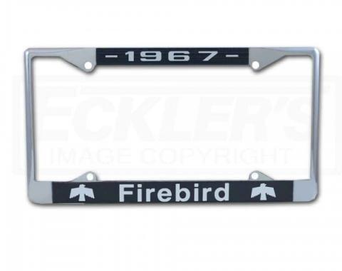 Firebird License Plate Frame With Firebird Phoenix Logo And Year, 1967-1981
