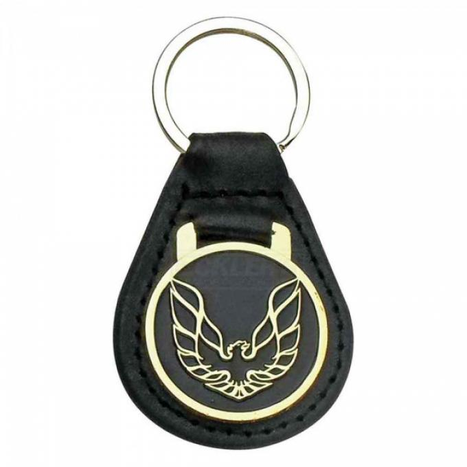 Firebird Key Ring, Black With Gold Logo