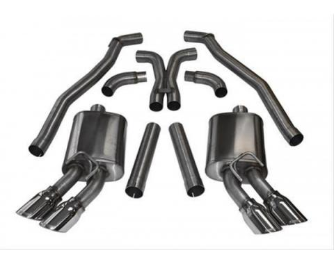 Camaro Cat-Back & X-Pipe Exhaust Kit, 3.0'', ZL1, 2012-2014
