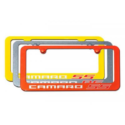 Camaro License Plate Frame,Elite Series, SS, Painted Factory Colors, Engraved,2010-2014