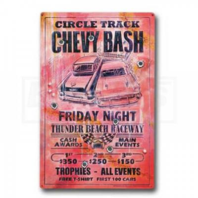Circle Track Chevy Bash, Friday Night, Metal Poster