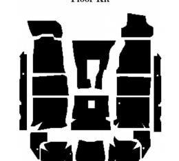 Camaro Insulation, QuietRide, AcoustiShield, Floor Kit, Coupe, 1993-2002