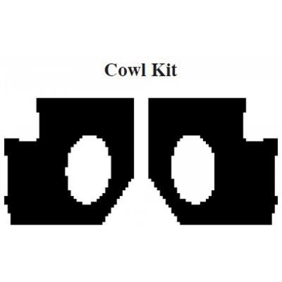Camaro Insulation, QuietRide, AcoustiShield, Cowl Kit, Coupe, 1975-1981