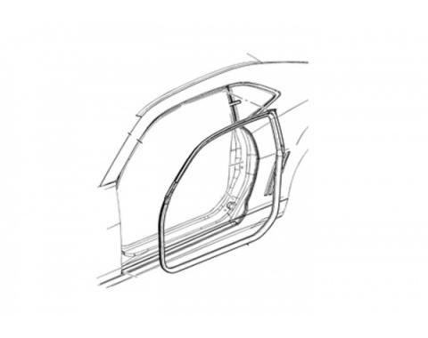 Camaro Left Door Weatherstrip Seal, 2010-2015
