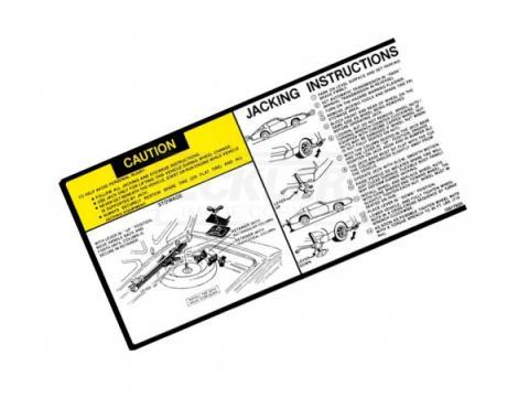 Firebird Jack Instructions Decal 1981-1982