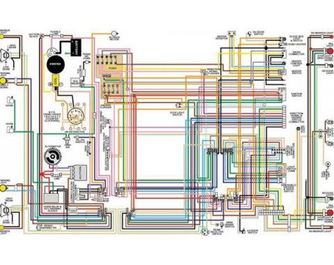 Camaro Color Laminated Wiring Diagram, 1967-1981