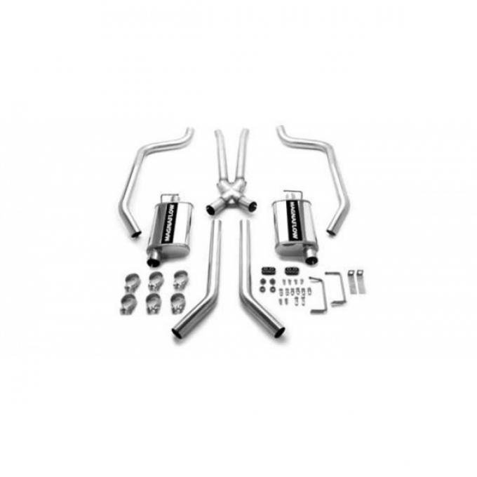 Firebird Street Series Stainless Crossmember-Back Performance Exhaust System, 1967-1973