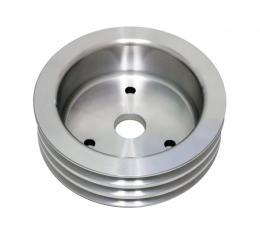 Chevy Big Block Aluminum Crankshaft Pulley, Short Water Pump, 3 Groove