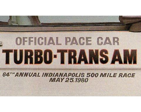 Firebird Door Decal Set, Silver, Trans Am, Turbo, Indy Pace Car, 1980