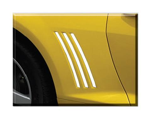 Camaro Quarter Panel Vent Inserts, White 2010-2013