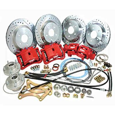 Camaro Complete Front And Rear Big Brake Kit, For Stock Spindles, Red Calipers, 1967